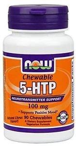 Now Foods 5-HTP Natural Citrus Flavor 100 mg - 90 Chewables