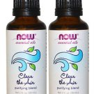 2 Bottles Now Foods Essential Oils Clear the Air Purifying Blend - 1 fl oz