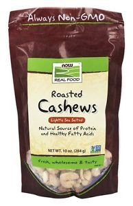 NOW Foods Roasted Cashews Lightly Sea Salted - 10 oz. (284 g)