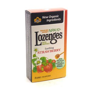 Manuka Honey Strawberry Lozenges by Pacific Resources international  20 Lozenges
