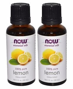 2 Bottles Now Foods Essential Oils 100% Pure Lemon Oil - 1 fl oz (30 ml)