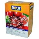Cran & Mannose With Probiotics Sticks 24/Pk NOW Foods