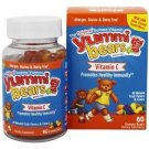 Yummi Bears, Vitamin C, Fruit Flavors, 60 Gummy Bears Exp: 06/2017