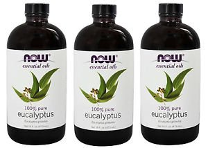 3 Pack Eucalyptus Essential 100% Pure Oil 16 oz By Now Foods