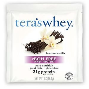 12 Pack Tera's Whey rBGH Free Whey Protein Bourbon Vanilla - 1 oz (28 g)