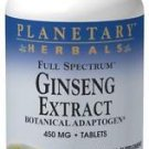 Ginseng Extract 450mg Full Spectrum, 90 tablets, Planetary Herbals