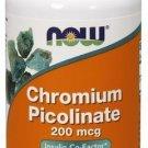 NOW Foods Chromium Picolinate 200 mcg - 100 Capsules (2 Pack)