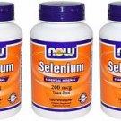 3 Pack Now Foods Selenium 200mcg Essential Mineral - 180 Vcaps