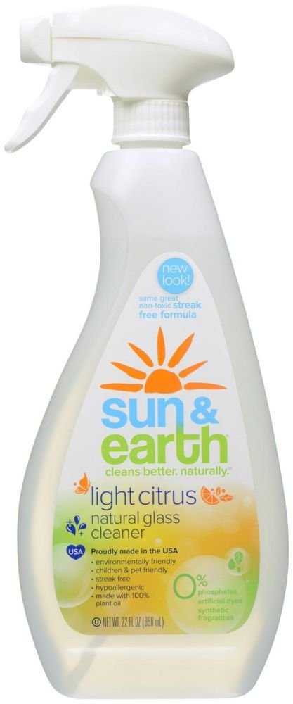 Sun & Earth - Natural Glass Cleaner Light Citrus - 22 oz.