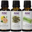 3 Pack NOW Foods  Mosquito Repellent Blend - Grapefruit, Citronella, Lemongrass