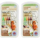 2Pack Endangered Species Eco-Doodle Table Top Activity Mat with Crayons & Eraser