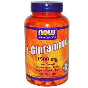 Now Foods, Sports, L-Glutamine, 1,500 mcg, 180 Tablets