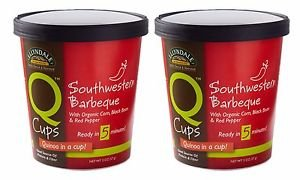 2 Pack Ellyndale Foods - Q Cups Gourmet Quinoa in a Cup Southwestern Barbeque