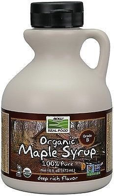 Now Foods Organic Maple Syrup, Grade A, Dark Color (formerly Grade B), 16 Ounce