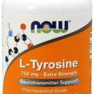 Now Foods L-Tyrosine Extra Strength 750mg 90 Capsules