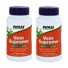 2-Pack Of Vein Supreme 90 Veggie Caps, Now Foods, Circulatory Support