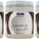 Now Foods Natural Coconut Oil - 7 fl oz (Pack of 3)