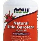 Beta Carotene D. salina with Mixed Carotenoids 25000IU 180 Softgels NOW Foods
