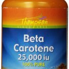 Thompson Beta Carotene 25000 IU Softgels 30 Count (Pack of 2)