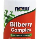 Bilberry Complex 80mg 100 Caps NOW Foods
