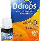 Ddrops - Liquid Vitamin D3 180 Drops 2000 IU - 0.17 oz.