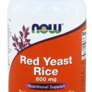 Red Rice Yeast 600mg 120 Vegetarian Capsules NOW Foods