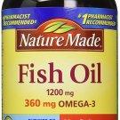 Nature Made  360mg of Omega 3 Fatty Acids Fish Oil 200 Softgels