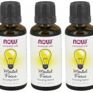 3x Mental Focus Essential Oil Blend 1 oz by NOW Foods