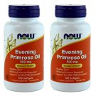 2 x NOW Evening Primrose Oil 500mg 100 SGels, Women's Health, FRESH, Made In USA
