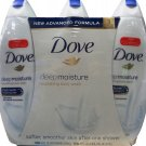 Dove Deep Moisture 3-24 FL OZ Nourishing Body Wash 72 FL OZ