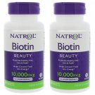 Natrol Biotin 10,000 Mcg 100 Tablets Maximum Strength Pack of 2 - exp 08/2019