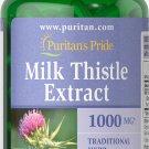 Puritan's Milk Thistle 4:1 Extract 1000mg 180 Softgels (Silymarin) Free Shipping