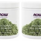 2 x NOW FOODS 100% Pure European Clay Powder 6 oz. (170 g), Made In USA, FRESH