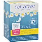Natracare Natural Ultra Pads Super Plus w/organic cotton cover -  12 count