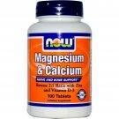 Magnesium & Calcium 1:2 Ratio 100 Tabs NOW Foods
