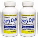 IVORY CAPS PILLS GLUTATHIONE SKIN WHITENING 1500 MG THISTLE - 6 BOTTLE