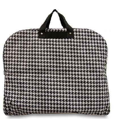 "Houndstooth Print Garment Bag ""Black Trim"""