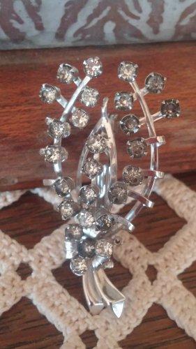 Vintage Rhinestone Wishbone Flower Bouquet Pin