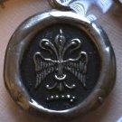 Authentic Pyrrha Talisman Sterling Silver Pendant : Fleur De Lis + 16 inch Chain