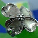 Size 8 Ring : Vintage Nye Sterling Silver Adjustable Dogwood Blossom