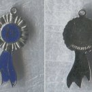 Vintage Charm Enamel on Sterling 925 Silver FLAT 1st Place Blue Ribbon