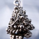 vintage CHARM: UNMARKED silver DECORATED CHRISTMAS TREE