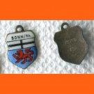 BONN Rh Enamel & Silver Travel Shield Souvenir Charm