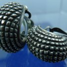 Vintage Art Deco Half A Hoop Clip Earrings : Sterling 925 Silver