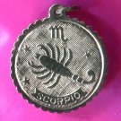 SCORPIO charm E STERLING 925 SILVER ZODIAC HOROSCOPE ASTROLOGY