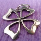Vintage Pendant Sterling 925 Silver Good Luck Lucky 4 Leaf Clover