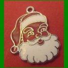 vintage CHRISTMAS HOLIDAY CHARM : Enamel Santa Claus