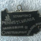 ENAMEL U.S. STATE MAP CHARM : PENNSYLVANIA TRAVEL SOUVENIR