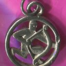 vintage SAGITTARIUS charm : unmarked SILVER ZODIAC HOROSCOPE ASTROLOGY