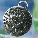 Inspirational Kevin & Anna  Charm 950 Silver / OM = HARMONY QUOTE / 16mm